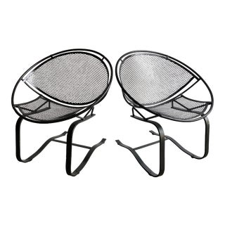 1950s Vintage Salterini Radar Bouncer Wrought Iron Chairs - a Pair For Sale