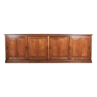 English 19th Century Victorian Oak Sideboard For Sale