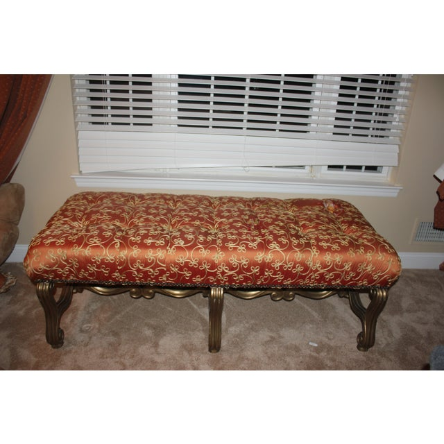 Custom Marge Carson Silk Bench - Image 2 of 5