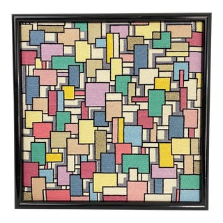 Op Art Geometric Needlepoint Art For Sale