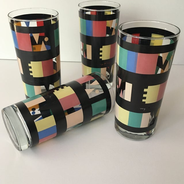 Georges Briard Mid-Century Modern Glasses - Set of 4 - Image 5 of 7
