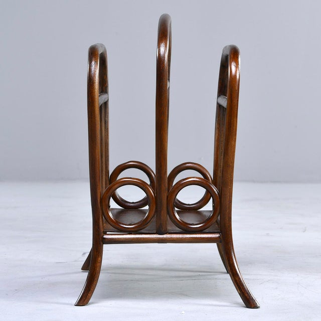 Thonet Early Thonet Bentwood Magazine Rack For Sale - Image 4 of 12