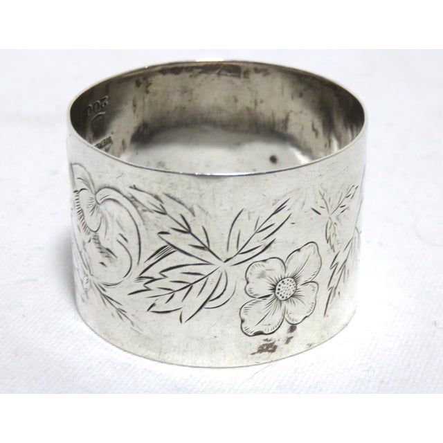 Antique American Sterling Silver Napkin Ring For Sale - Image 4 of 5