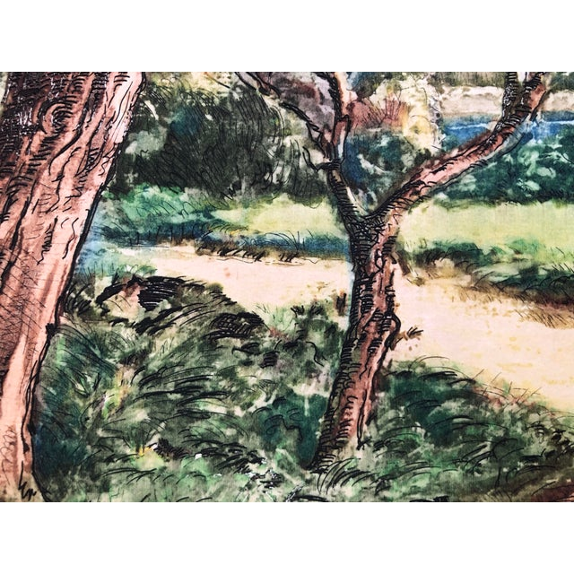 French Countryside Print by Paul Lecomte For Sale - Image 4 of 7