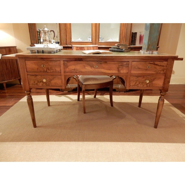 19th C. French Leather Top Desk For Sale - Image 10 of 12
