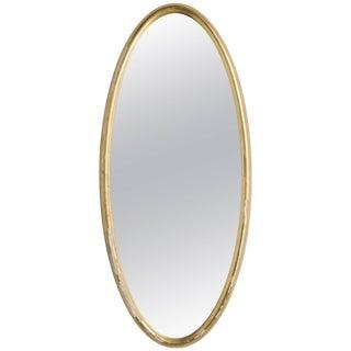 Oval Gilt Deep Framed Italian Mirror For Sale