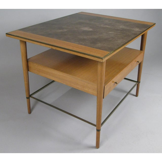 1950s Mahogany and Brass Table by Paul McCobb For Sale In New York - Image 6 of 7