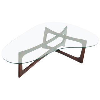 1960s Mid-Century Modern Adrian Pearsall Kidney Shape Coffee Table For Sale