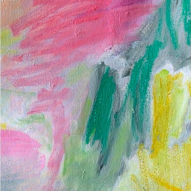 "Abstract ""April Mist"" by Trixie Pitts Abstract Oil Painting For Sale - Image 3 of 13"