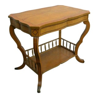 Side End Table Console With a Shelf and a Drawer For Sale