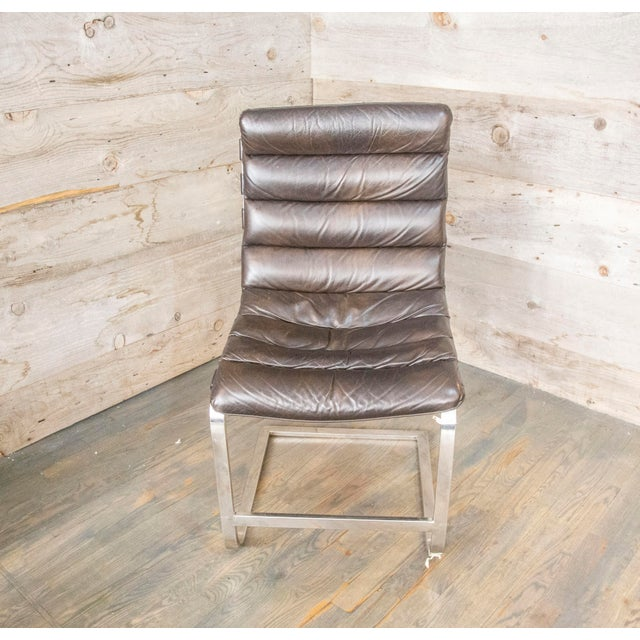 Surprising Modern Oviedo Leather Side Chair Creativecarmelina Interior Chair Design Creativecarmelinacom