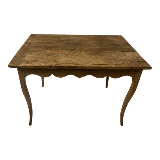 19th Century French Pine Work Table For Sale