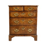 Image of George II Walnut Bachelors Chest of Drawers For Sale