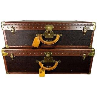 Hers & His Custom Louis Vuitton Alzer Suitcases
