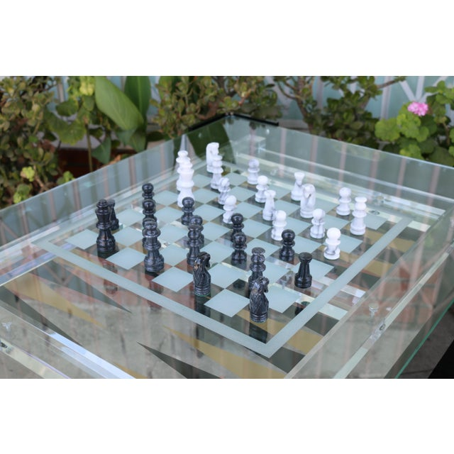 Vintage Lucite Backgammon and Chest Game Table For Sale - Image 9 of 13