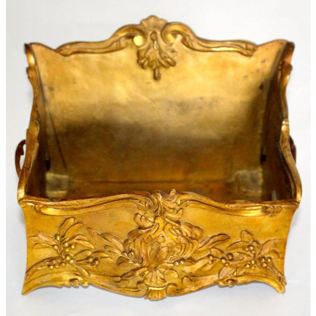 19th Century French Decorated Gilt Bronze Box - Image 5 of 11