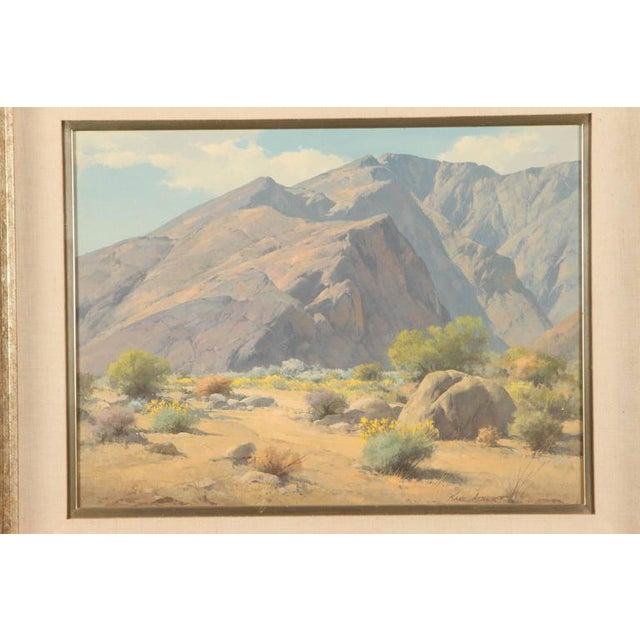 "Landscape by Karl Albert titled ""Taquitz"", oil on canvas, in its original frame, signed lower right."