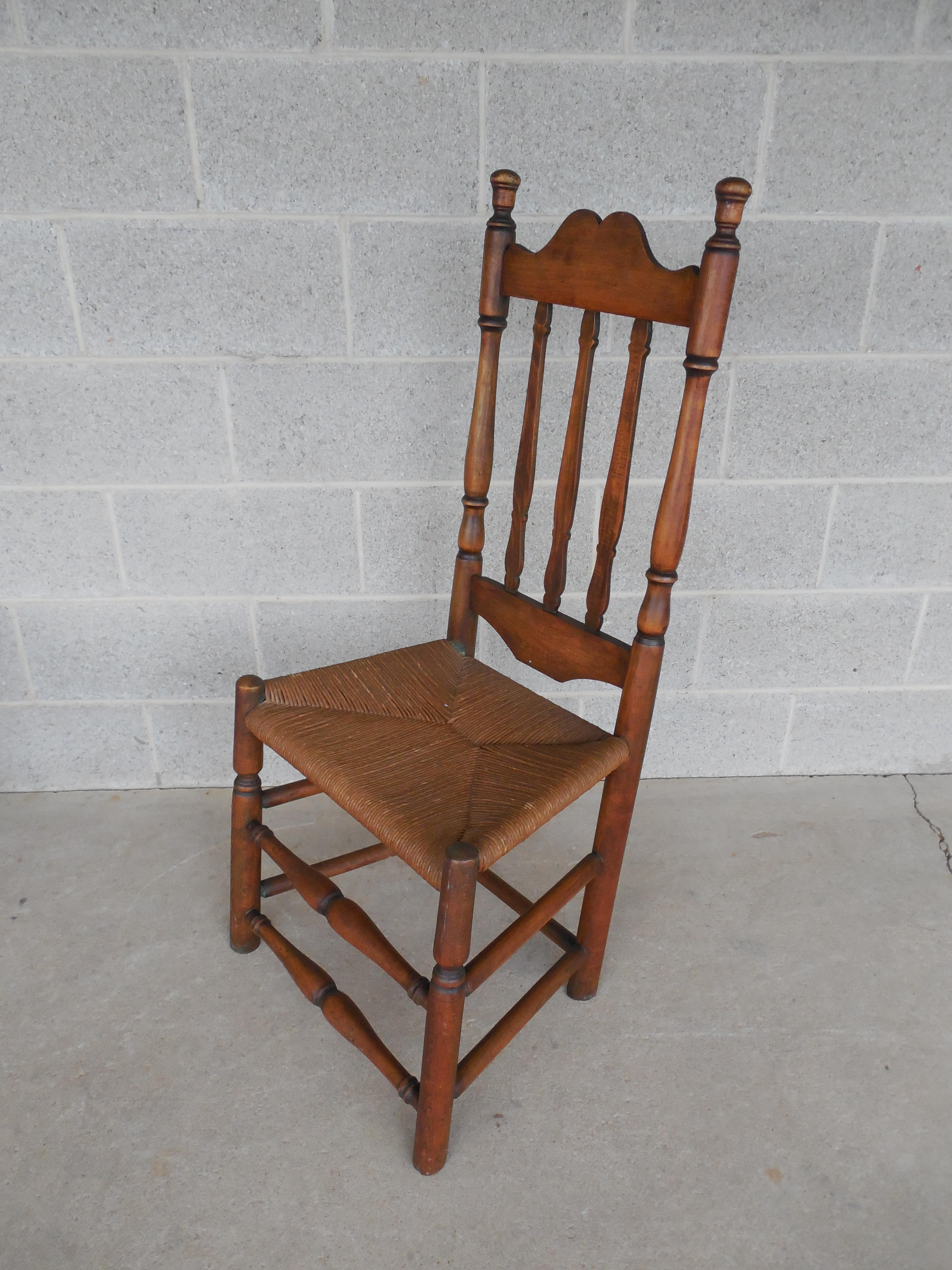 Ordinaire Set Of 6 Antique Turned Windsor Rush Bottom Chairs   Image 9 Of 12