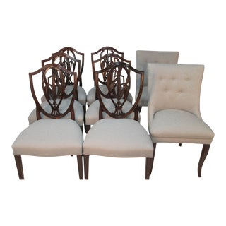 1940s Vintage Old Colony of Boston Dining Chairs- Set of 8 For Sale