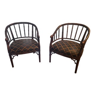 Century Chair Co. Bamboo-Style Chairs - A Pair For Sale