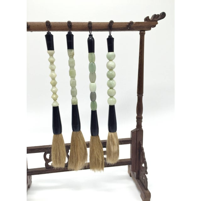 Chinese Brush and Stand, Set of Five For Sale - Image 4 of 11