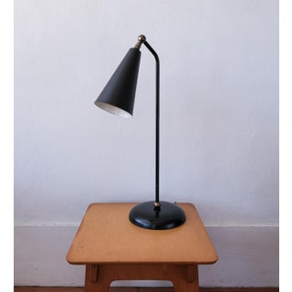 1950s Black Enamel and Brass Desk Lamp Preview