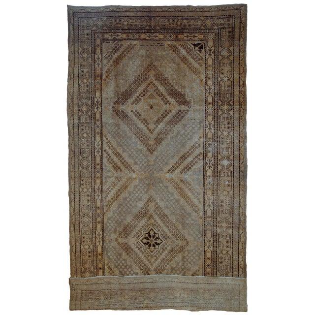 1900s Handmade Antique East Turkestan Khotan Rug 6.1' X 11.9' For Sale - Image 12 of 12