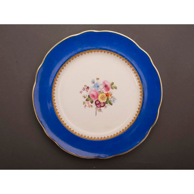 Blue 19th Century Antique English Sèvres Style Copeland Dessert Salad Plates - Set of 6 For Sale - Image 8 of 10