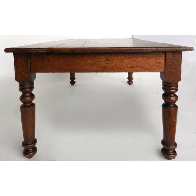 Rustic Antique Guatemalan Wooden Coffee Table With Turned Legs For Sale - Image 3 of 9