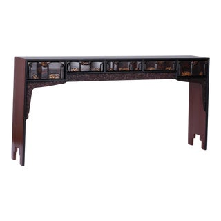 Chinoiserie Painted Five-Drawer Console or Altar Table For Sale