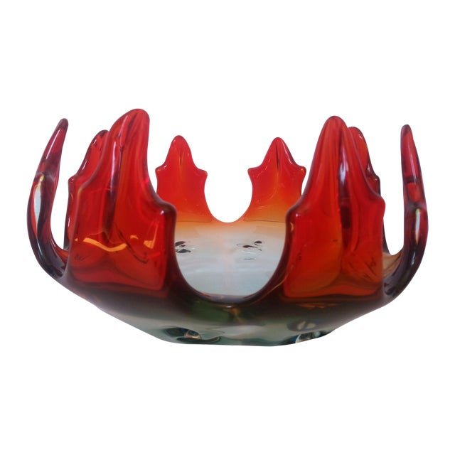 Flame Design Glass Bowl - Image 1 of 4