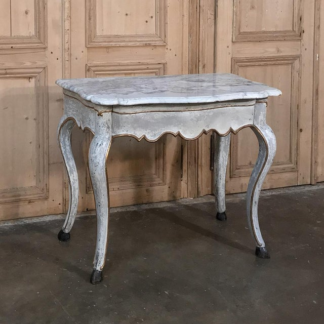 19th Century Swedish Painted Marble Top Console For Sale - Image 13 of 13
