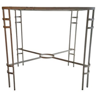 1940s French Modernist Wrought Iron Table For Sale