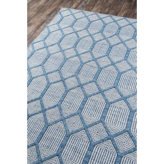 "Erin Gates Langdon Cambridge Blue Hand Woven Wool Area Rug 7'6"" X 9'6"" Preview"
