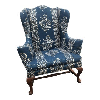1980s Vintage Kittinger Cw-44 Colonial Williamsburg Mahogany Wing Chair For Sale