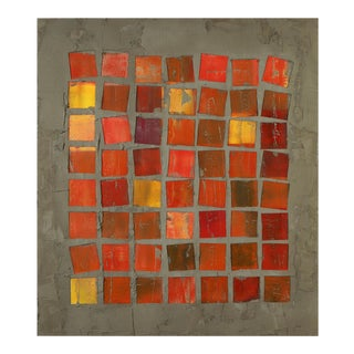 """Pierre Auville """"56 Squares"""", Mixed Media For Sale"""