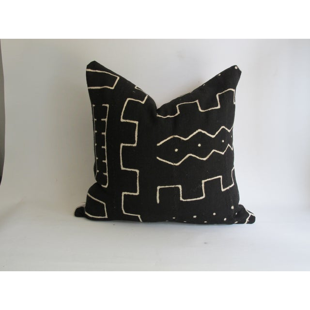 Black Kuba Cloth Pillows - A Pair - Image 4 of 8