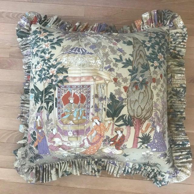 Asian Custom Cowtan and Tout Print Euro Shams - a Pair For Sale - Image 3 of 6