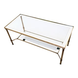 Beautiful Brass Coffee Table, Italy, 1950s For Sale