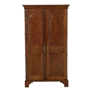 Stickley Solid Mahogany Raised Panel Bedroom Armoire Wardrobe Cabinet For Sale