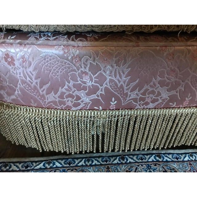Pink 1960s Regency/Glam Pink Tufted Perfection Sofa For Sale - Image 8 of 13