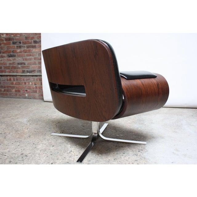 Wood Brazilian Modern Jacaranda and Leather Swiveling Lounge Chair by Jorge Zalszupin For Sale - Image 7 of 13
