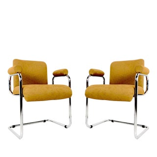 Pair Occasional Chairs by Guido Falsechini For Sale