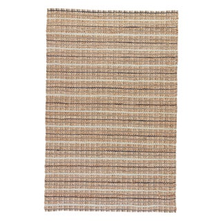 Jaipur Living Harringdon Natural Stripe Gray/ Beige Area Rug - 9′ × 12′ For Sale