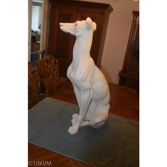 1980s Vintage Ceramic Life Size Greyhound Dog For Sale - Image 5 of 12