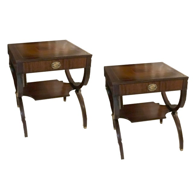 1940s 1940s Hepplewhite Side Tables - a Pair For Sale - Image 5 of 5