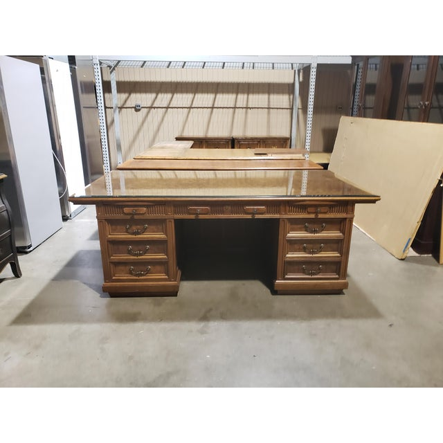 Brown 20th Century Traditional Jasper Morrison Walnut Executive Desk For Sale - Image 8 of 8