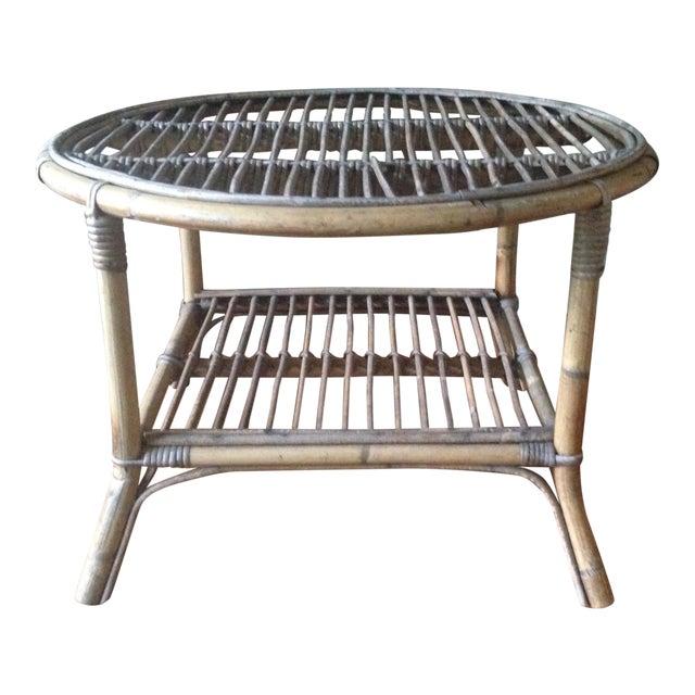 Vintage Bamboo Side Coffee Table Chairish