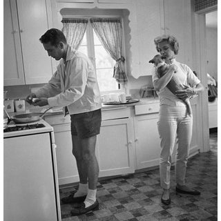 Paul Newman & Joanne Woodward by Sid Avery Photograph