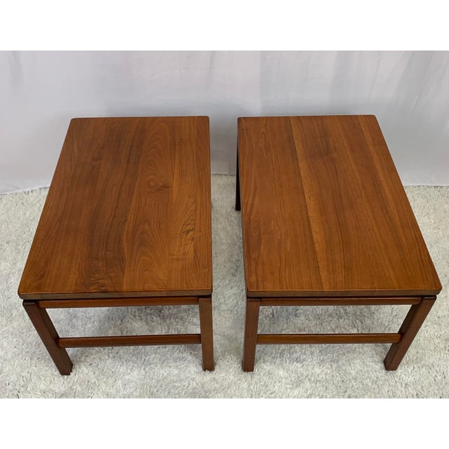 Mid-Century Modern Mid-Century Danish Modern Walnut End Tables by Gunlocke For Sale - Image 3 of 11